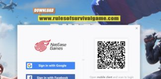 Rules of Survival PC Login using Google